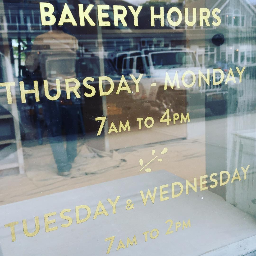Instagram: Signage going up at @carissas_breads  in the Hamptons !