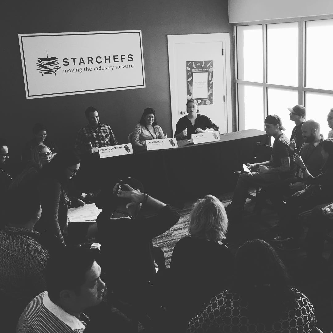 Instagram: Loved chatting food, branding and social media with these awesome guys @starchefs this morning!