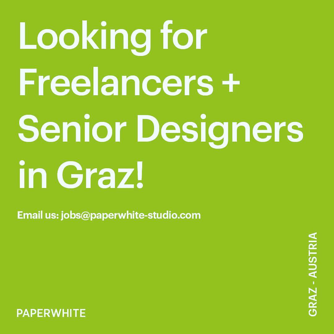 Instagram: Join our team! Email your portfolio and resume to  jobs@paperwhite-studio.com ?????