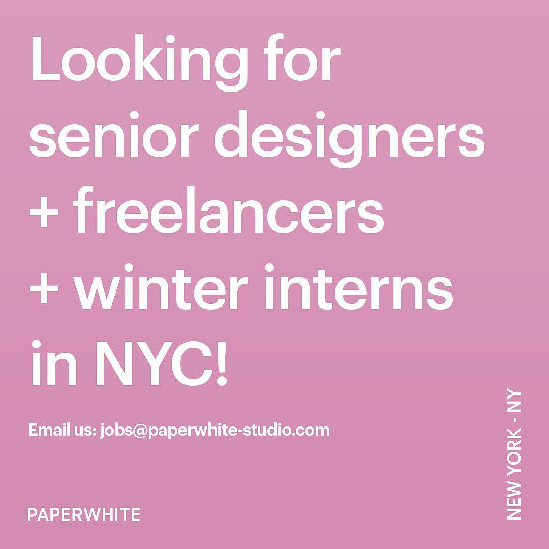 Instagram: ?? Email us at job@paperwhite-studio.com if you want to join our team! ???
